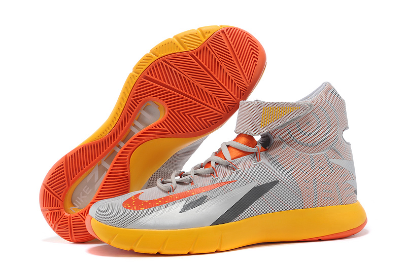 Nike Zoom HyperRev Kyrie Irving Grey Yellow Orange Basketball Shoes
