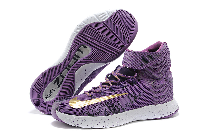 Nike Zoom HyperRev Kyrie Irving Purple Gold Basketball Shoes