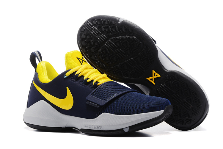 Nike Zoom PG 1 Deep Blue Yellow Shoes