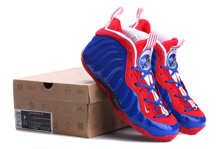 2014 Air Foamposite One Blue Red White Shoes