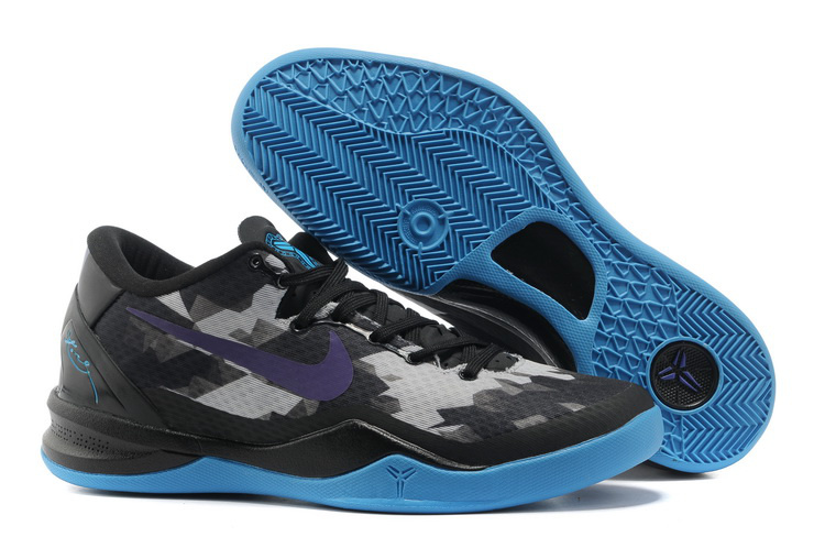 Nike Kobe Bryant 8 Shoes Black Grey Blue