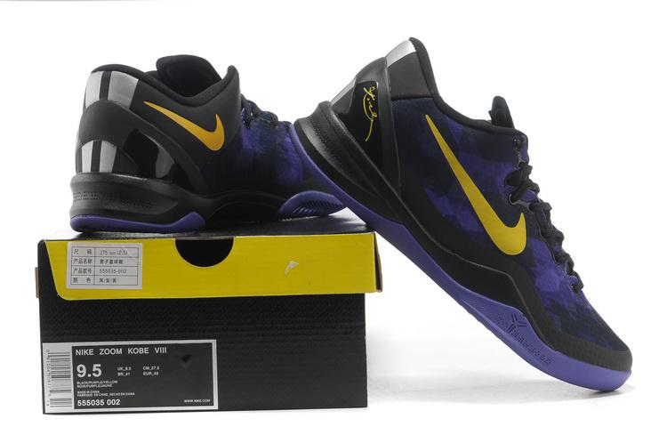 Nike Kobe Bryant 8 Shoes Black Purple Yellow