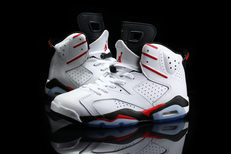 Nike 2015 Jordan 6 Retro White Red Black
