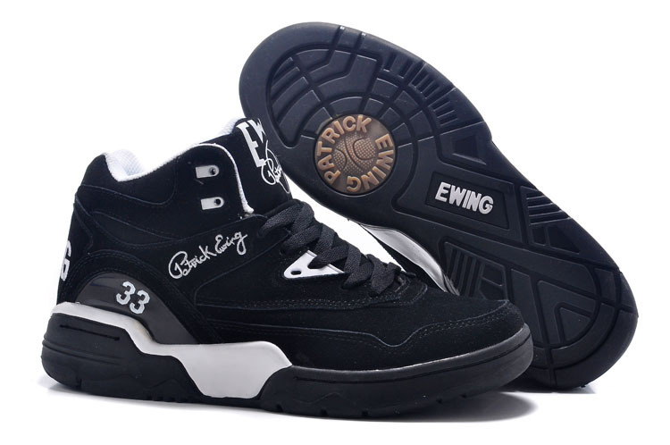 Patrick Ewing 33 Black White Basketball Shoes