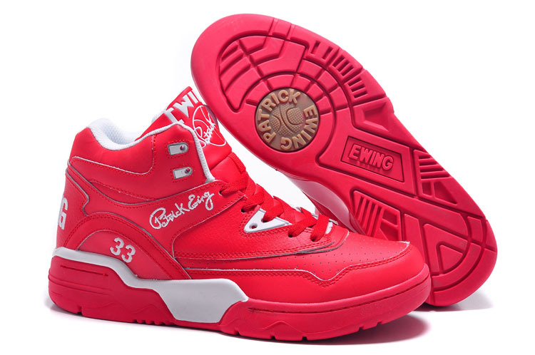 Patrick Ewing 33 Red White Basketball Shoes