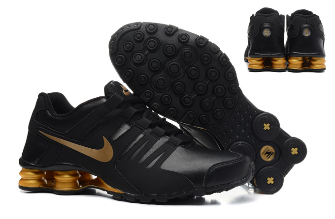 Real Men Nike Shox Current Black Gold