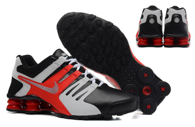 Real Men Nike Shox Current Black Grey Red