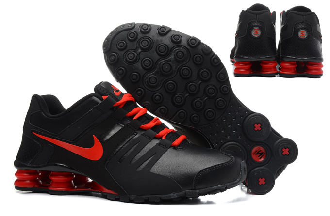 Real Men Nike Shox Current Black Red