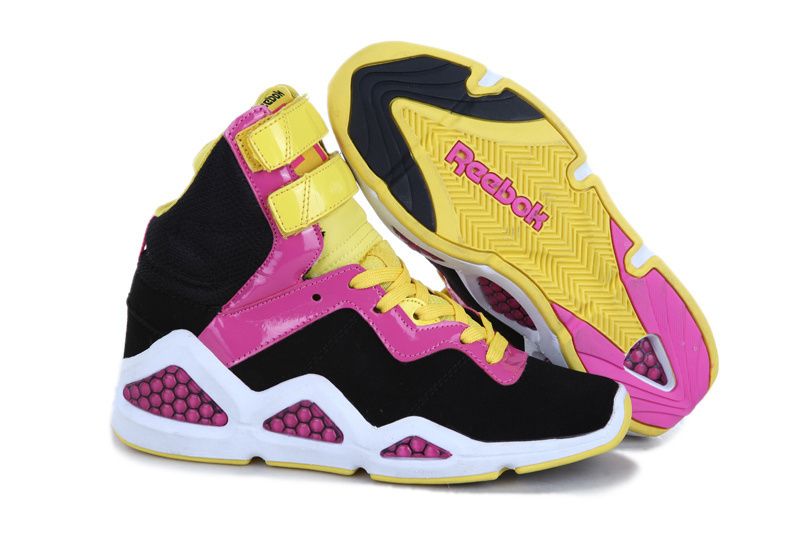 Womens' Reebok CL Chi Kaze Black Pink White Yellow Shoes