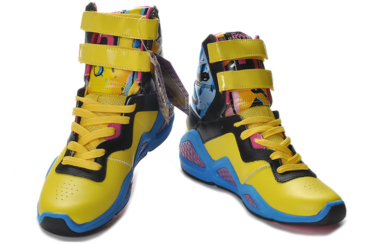 Womens' Reebok CL Chi Kaze Yellow Black Blue Shoes