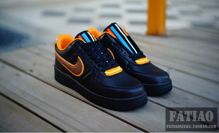 Riccardo Tisci Nike R.T. Air Force 1 Low Blue Yellow Shoes