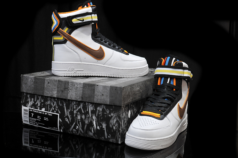 Riccardo Tisci Nike R.T. Air Force 1 White Black Yellow Shoes
