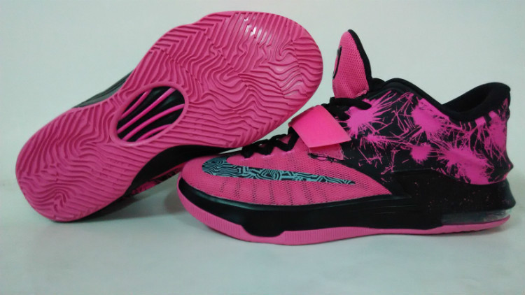 Teenage Nike KD 7 Pink Black Shoes