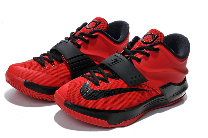Teenage Nike KD 7 Red Black Shoes
