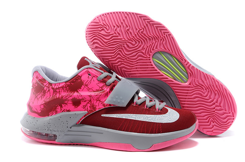 Teenage Nike Kevin Durant 7 Red Grey Shoes