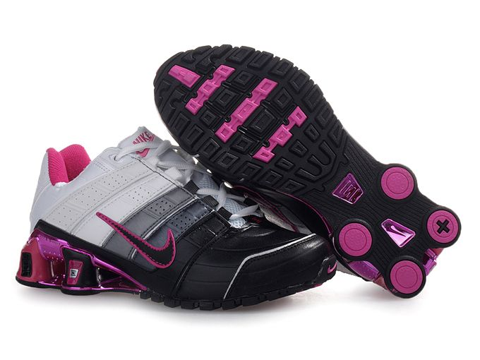 Womens Nike Shox Nz Shoes Black White Pink
