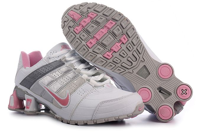 Womens Nike Shox Nz Shoes White Grey Pink