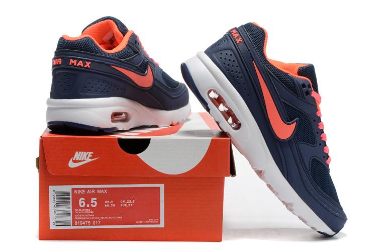 2016 Women Nike Air Max 85 Black Reddish Orange
