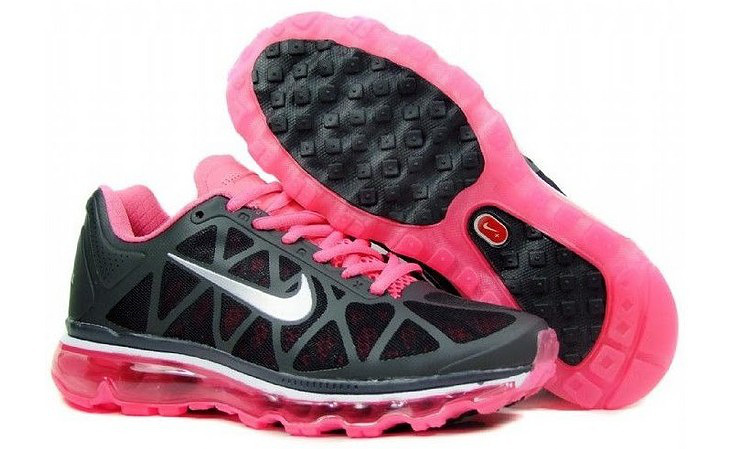 Women Nike Air Max 2009 5 Mesh Black Red White Shoes