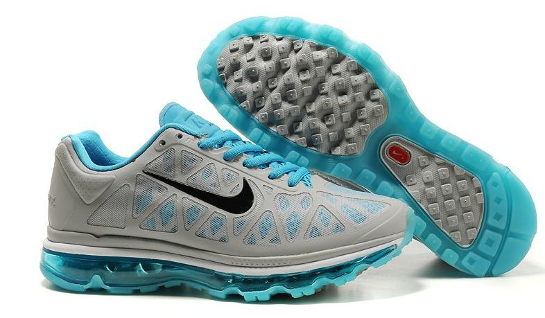 Women Nike Air Max 2009 5 Mesh Grey Blue Black Shoes