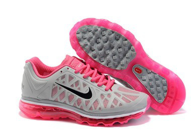Women Nike Air Max 2009 5 Mesh Grey Pink Black Shoes