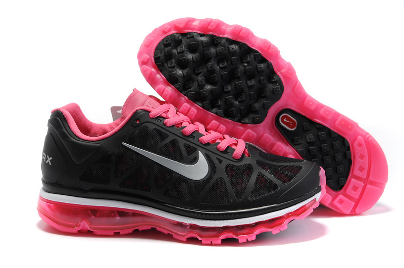 Women Nike Air Max 2011 Black Pink Shoes