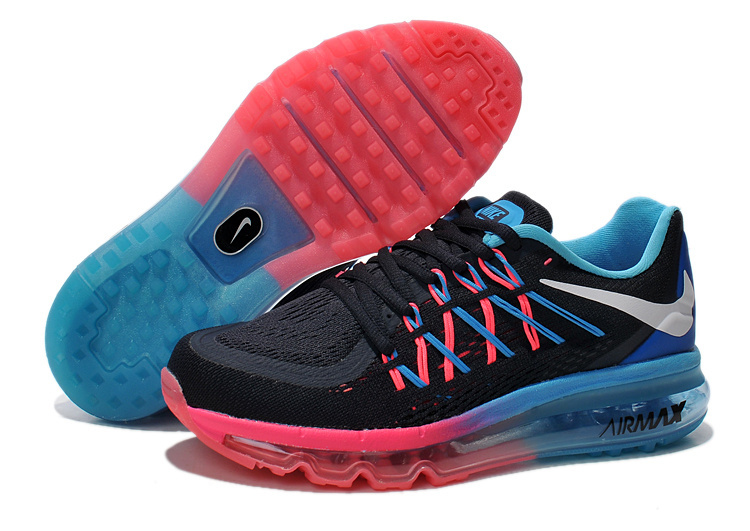 Women Nike Air Max 2015 Black Pink Blue Shoes
