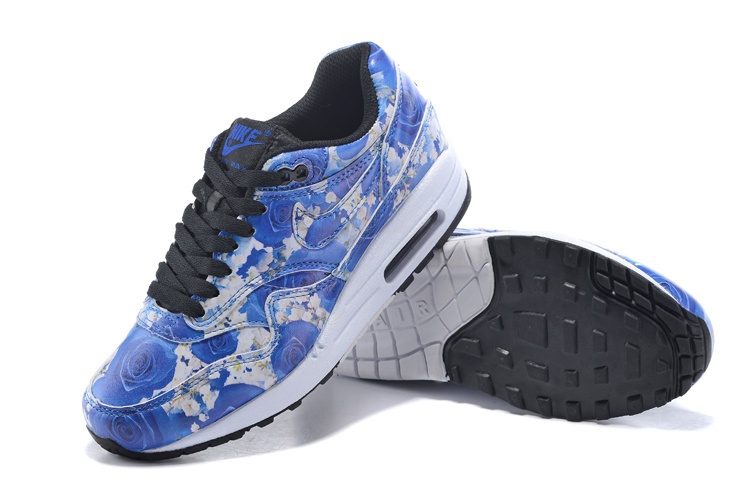 2016 Women's Nike Air Max 87 Follower Print Blue White