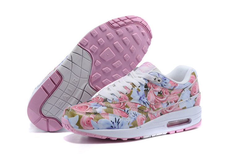 2016 Women's Nike Air Max 87 Follower Print Pink White