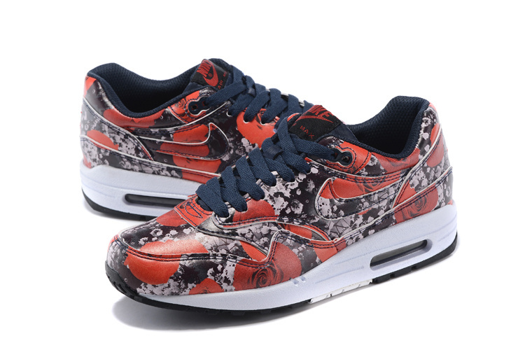 2016 Women's Nike Air Max 87 Follower Print Red White