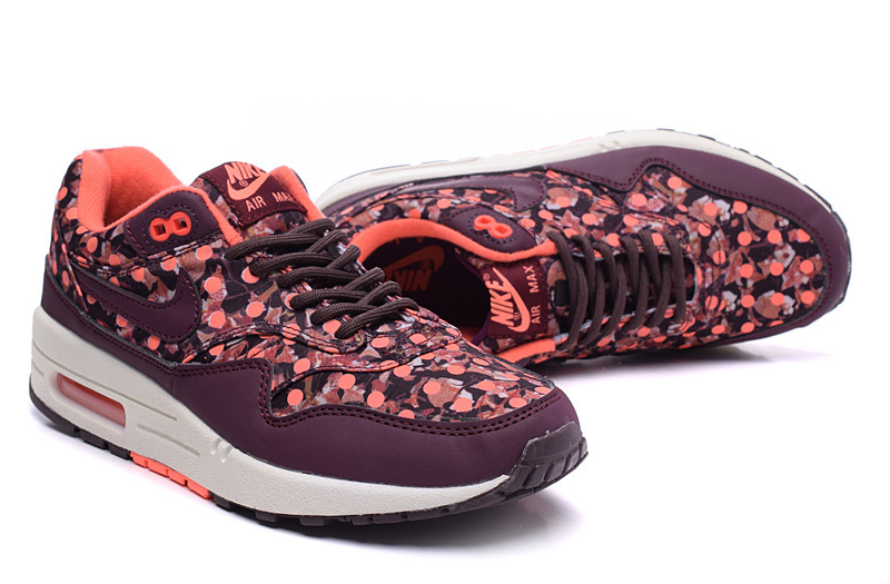 2016 Women's Nike Air Max 87 Follower Print Wine Red White