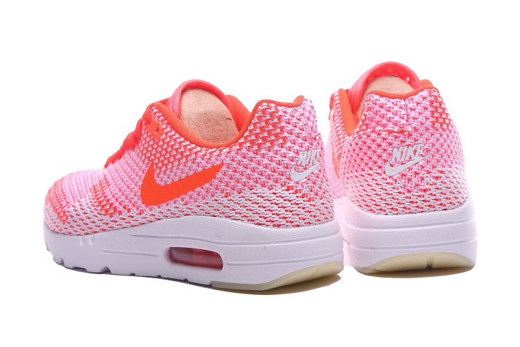2016 Women's Nike Air Max 87 II Knit White Pink Orange