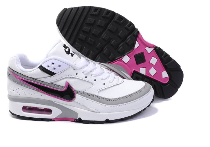 2016 Women's Nike Air Max BW White Grey Pink