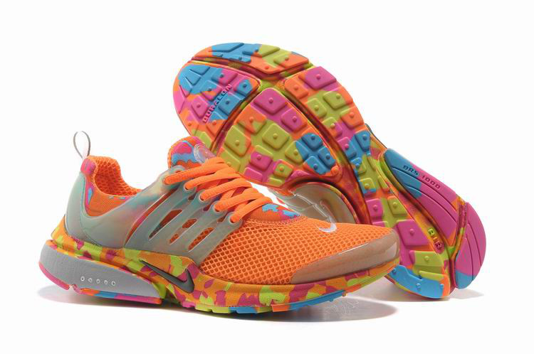 Women Nike Air Presto 1 Camo Orange Shoes