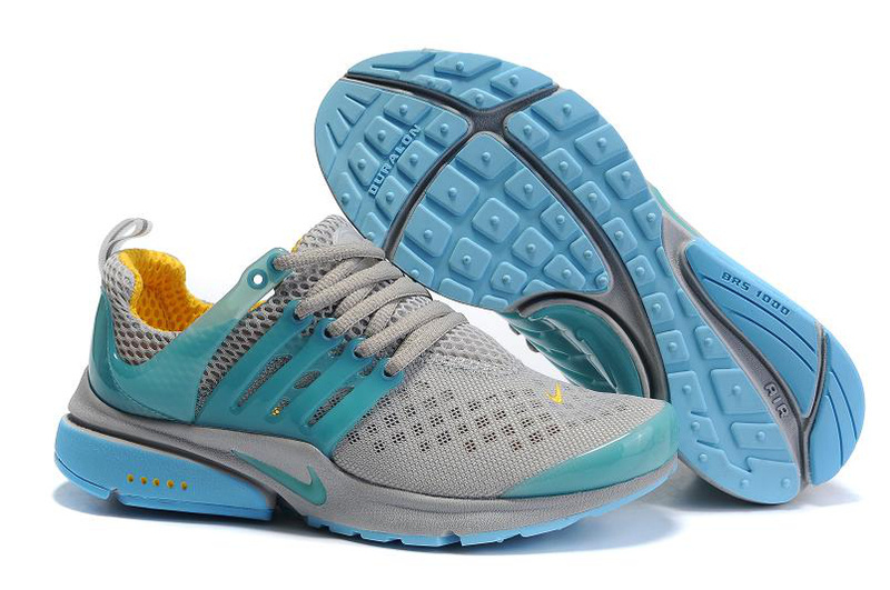 Women Nike Air Presto 2 Carve Grey Blue Shoes With Holes