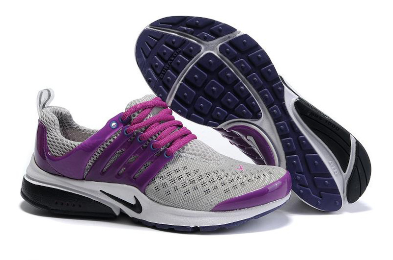 Women Nike Air Presto 2 Carve Grey Purple Black Shoes With Holes