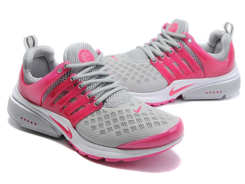 Women Nike Air Presto 2 Carve Grey Red Shoes With Holes