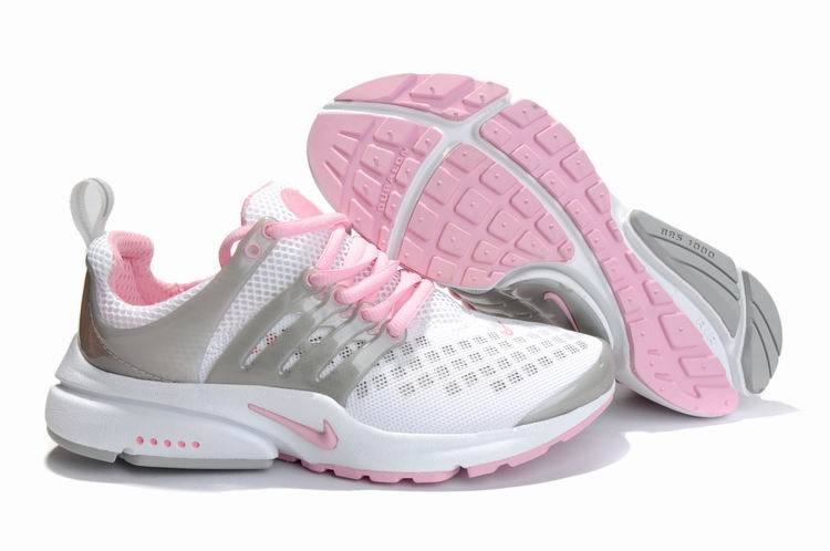 Women Nike Air Presto 2 Carve White Grey Pink Shoes With Holes