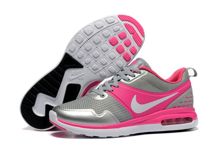 2016 Women's Nike Air SB Grey Pink Running Shoes