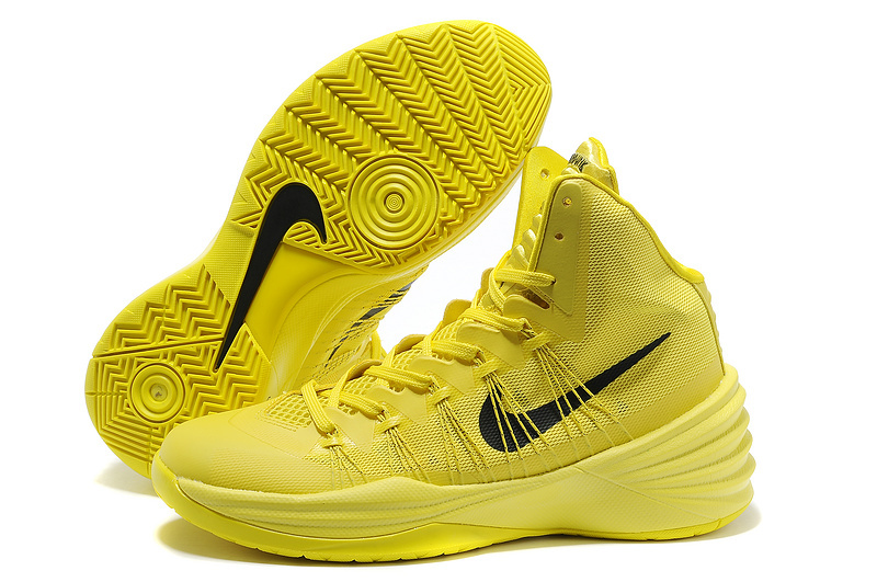 Women Nike HyperDunk 2013 XDR All Yellow Black Basketball Shoes