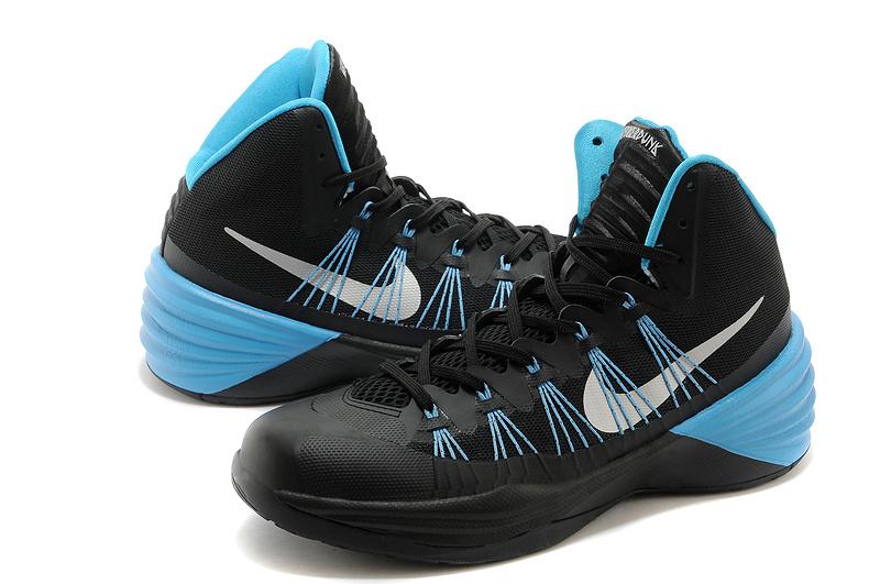 women nike hyperdunk 2013 xdr black blue basketball shoes