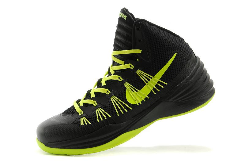 Women Nike HyperDunk 2013 XDR Black Fluorscent Green Basketball Shoes