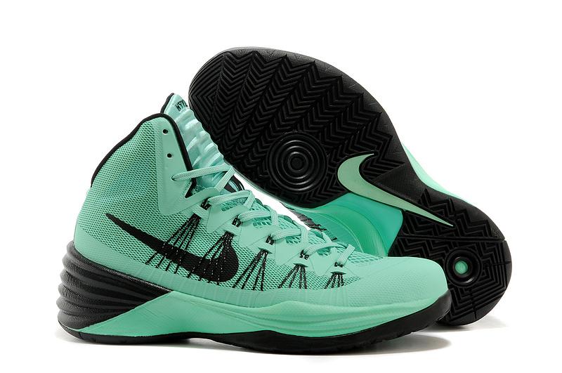 Women Nike HyperDunk 2013 XDR Green Black Basketball Shoes