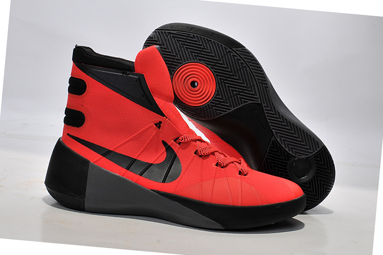 Women Nike Hyperdunk 2015 Red Black Basketball Shoes