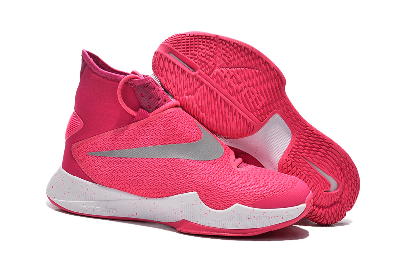 Women Nike Hyperrev 2016 Pink White Basketball Shoes