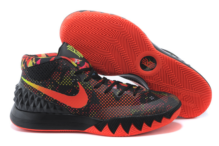 Women Nike Kyrie 1 Black Red Basketball Shoes
