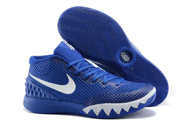 Women Nike Kyrie 1 Blue White Basketball Shoes