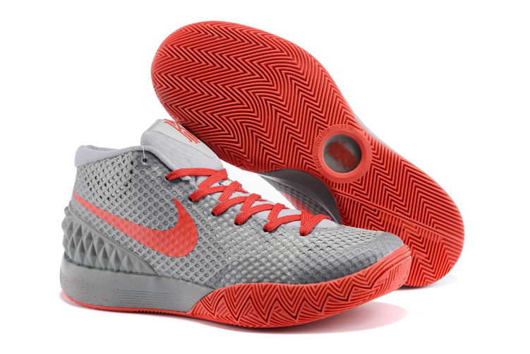 Women Nike Kyrie 1 Grey Red Basketball Shoes