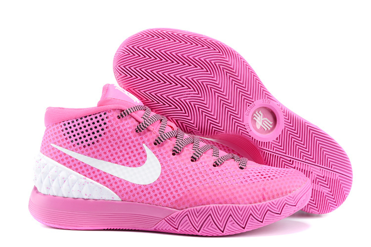Women Nike Kyrie 1 Pink White Shoes