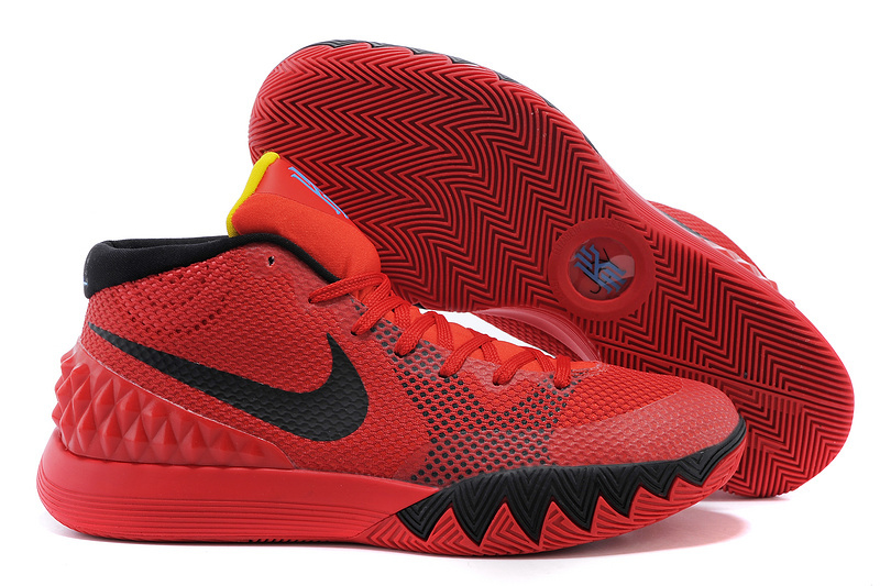 Women Nike Kyrie 1 Red Black Basketball Shoes